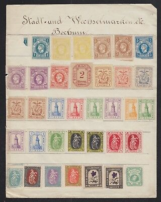 GERMANY 1800s/EARLY 1900s 60+ BOCHUM ESSEN & HAMMONIA CITY LOCALS STAMPS