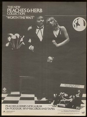 1980 Peaches & Herb photo Worth the Wait song release trade print ad