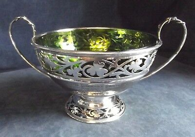 """OLD Large 13"""" ~ LINCOLNSHIRE Yeomanry PRIZE ~ SHAMROCK BOWL ~ d.d.1912"""