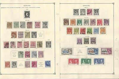 Ceylon Collection 1851 to 1938 on 3 Scott International Pages