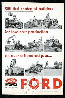 1956 Ford tractor 9 photo vintage trade print ad