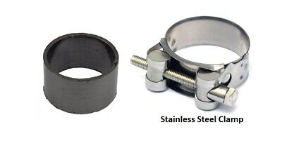 Exhaust seal and clamp to Silencer Honda PC 800 Pacific Coast 1989-1993