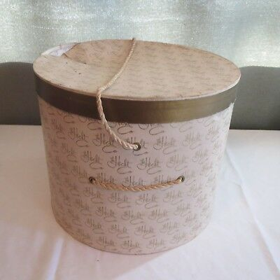 "Vintage ""THE HECHT CO."" Designer Women's Hat Box"