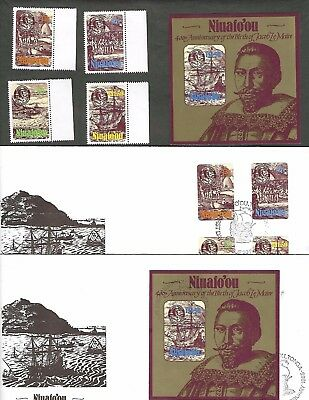 NIUAFO'OU sc#51-4 #55 SHEET (1985) COMPLETE MNH  + FDC'S