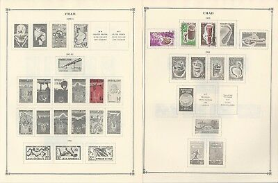 Chad Collection 1922-1970 on 25 Scott International & Minkus Pages