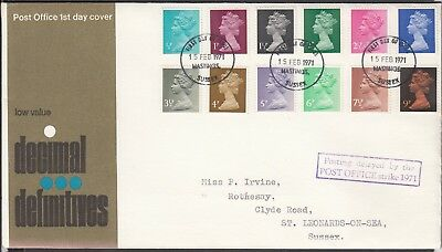 Gb 1971 Postal Strike Cover Definative Issues !!!!!!!!!!!!!!!!!!!!!!!