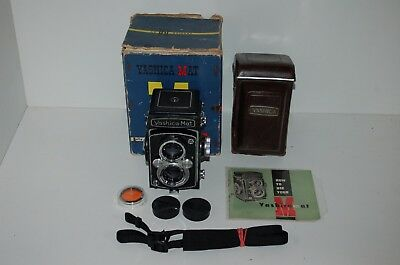 Yashica-Mat Vintage 1958 TLR 6 x 6 Format Camera. Caps & Case. Service. Boxed.