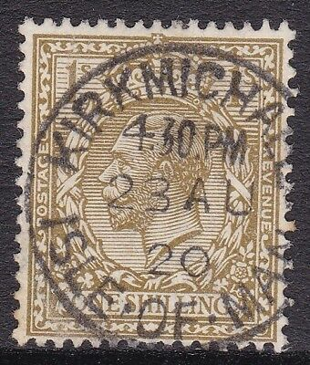 Gb 1912-24 1S Bistre, Fine Kirkmichael Isle Of Man 1920 Cds