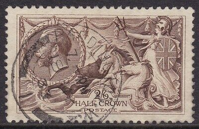 Gb 1918-19 2S 6D Chocolate Brown Seahorse Fine 1933 Cds Used