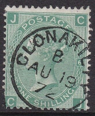 Gb Used In Ireland: 1867-80 1S Green Pl. 6 - Clonakilty (Cork) Cds