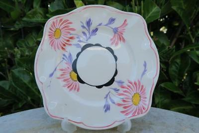 GRAY'S POTTERY PINK DAISY SQUARE TEA PLATE A189 c 1933