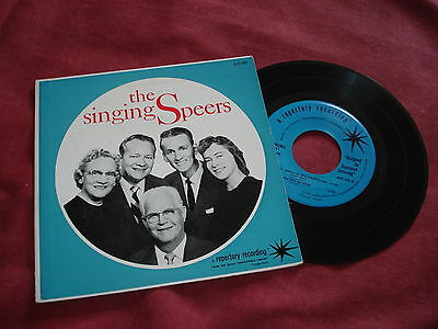 "THE SINGING SPEERS 7"" EP Gospel Christian USA"