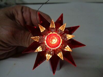 1930s C-6 Double MATCHLESS STAR Light - RED CLEAR RED #2 - 700 SIZE