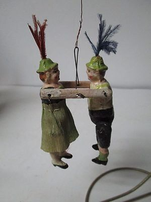 Old Germany Christmas Ornament - Jointed Dancers #2