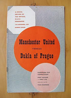 MANCHESTER UNITED v DUKLA PRAGUE European Cup 1957/1958 *Munich Season VG Cond*
