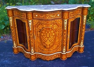 ALL marquetry Victorian style Credenza Sideboard