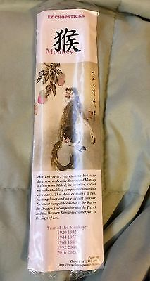 YEAR OF MONKEY New Year Chinese Zodiac Sign Collectible EZ CHOPSTICKS Painting
