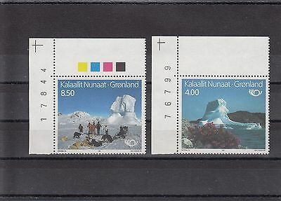 Timbre Stamp  2  Groenland Y&t#206-07 Chien Iceberg  Neuf**/mnh-Mint 1991 ~A47