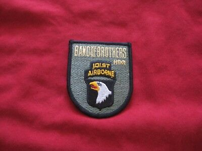 """HBO Band of Brothers 101st Airborne Embroidered Patch 3 1/2"""" X 3"""" -NEW"""