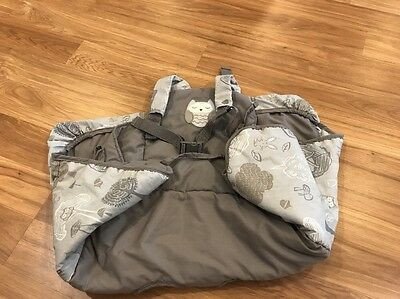 High chair seat/ shopping cart cover Owl Gray Unisex (12)