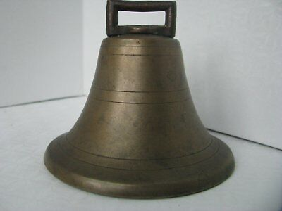 Bell Antique Cast Brass LARGE 4 Inch Beautiful Resonance Tone Cow Meditation