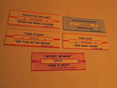 The Eagles - Witchy Woman / Heartache Tonight /Take It Easy /Lyin Eyes 5 jukebox