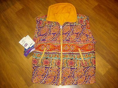 NWT New Vtg 80s 90s FERA Reversible Gold Neon SKI Womens size 8 Jacket VEST Coat