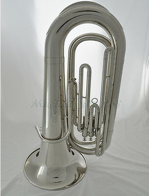 Professional silver nickel Tuba Monel valves Horn 2 mouthpiece new case