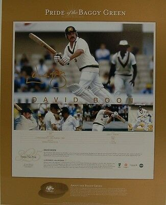 David Boon Australia Baggy Green Hand Signed Limited Edition Print   Certificate