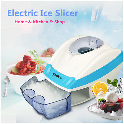 Electric Ice Shaver Slicer Crusher Home Machine Cube Flake Shaved Snow Automatic