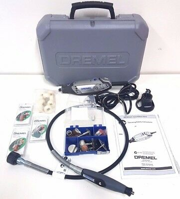 Dremel 3000 Variable Speed Rotary Multi-Tool In Case W/ Shaft, Accessories