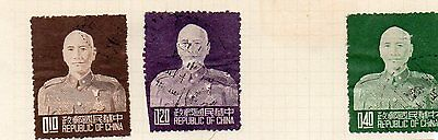 3 Used Stamps - Taiwan   -  1953