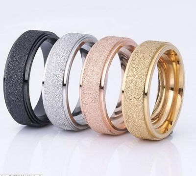 50 Mix Matte men's women's stainless steel rings Band wholesale jewelry lots