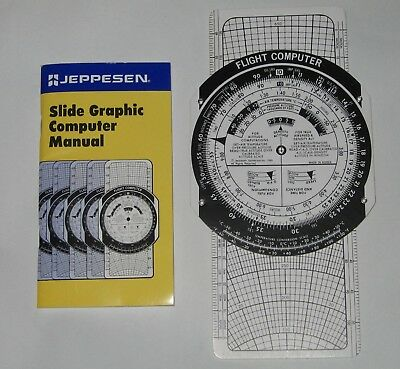 JEPPESEN FLIGHT COMPUTER WITH POCKET MANUAL for G.S.and T.H  Excellent Condition