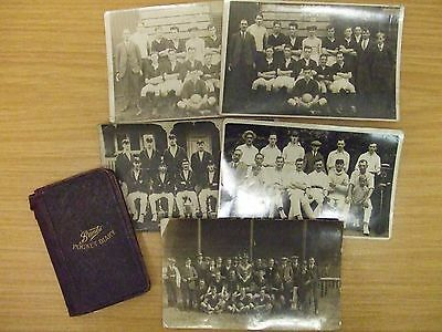 EJ REVILL: QPR & CHESTERFIELD FC: 1911 PERSONAL DIARY & x5 TEAM POSTCARDS: LOOK!