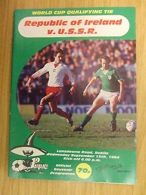 Republic Of Ireland V Ussr/russia: World Cup Qualifier: September 1984: Look !!!