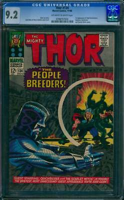 Thor # 134  First app. the High Evolutionary !  CGC 9.2 scarce book !