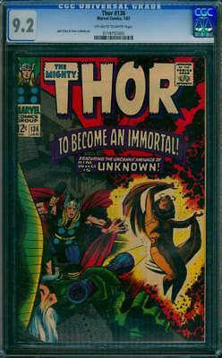 Thor # 136  To Become an Immortal !  CGC 9.2 scarce book !