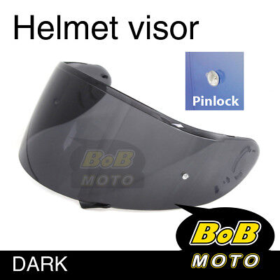 Smoke Tinted Shield Helmet Visor Pinlock Fit GT AIR Shoei Neotec GT-Air