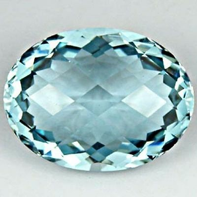HUGE 24.5x19.5mm OVAL-FACET CHECKER-CUT NATURAL AFRICAN AQUAMARINE (APP £1,294)