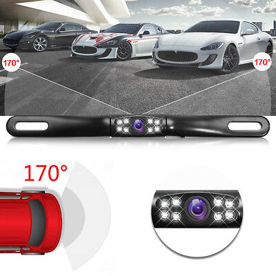Waterproof 170° Car Rear View Reverse Backup License Plate Camera Night Vision