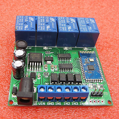 4-CH 5-24V Bluetooth Relay Remote Control Switch For Android Mobile new