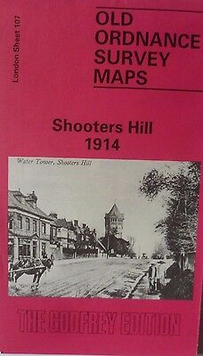 Old Ordnance Survey Detailed Map Shooters Hill London 1914 Sheet 107 Brand New