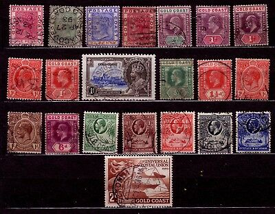 STAMPS: GOLD COAST (1). EARLY SELECTION. 99p START. NO RESERVE!