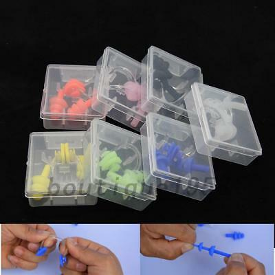 1 Pair Ear Plugs Nose clip Plastic Box Swimming Water Pool Sea Silicone