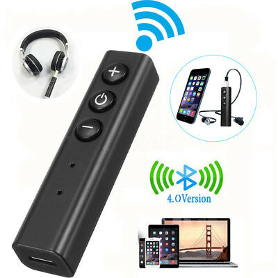 Wireless Bluetooth V4.0 Receiver AUX Stereo Audio Music Home Car Adapter 3.5mm