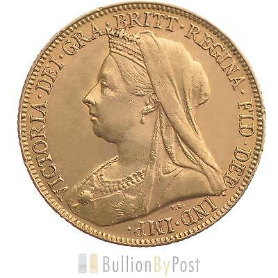 Gold Full Sovereign - Victoria, Old Head