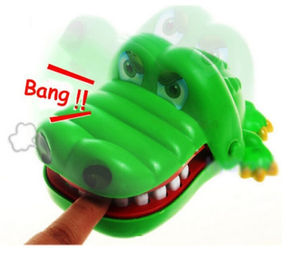 Crocodile Mouth Dentist Bite Finger Teeth Game Toys Kids Funny Toy Children Gift