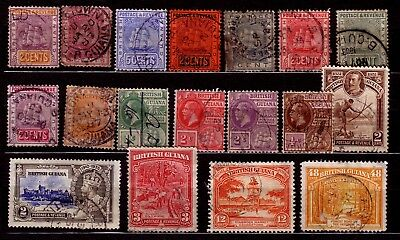 STAMPS: BRITISH GUIANA (1). EARLY SELECTION. 99p START. NO RESERVE!