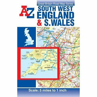 A-Z South West England & South Wales Road Map (Road Atl - Map NEW Geographers A-